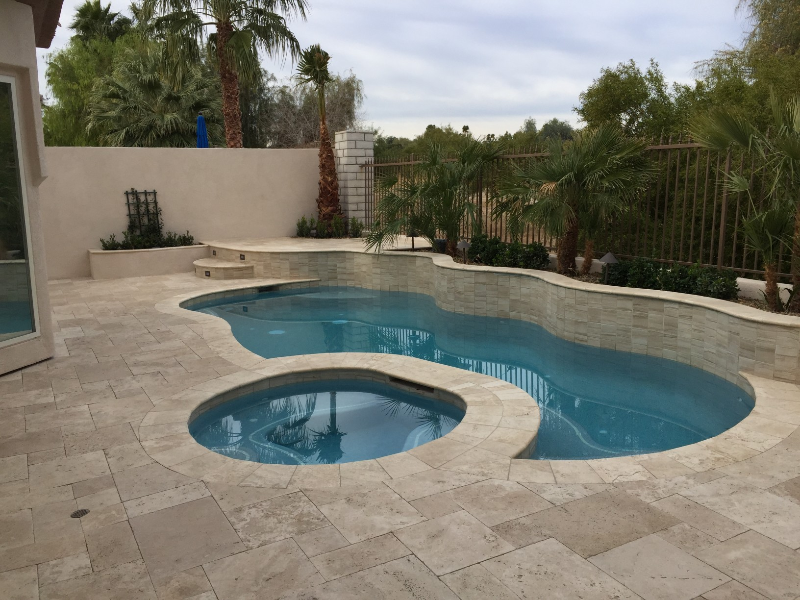 Interior remodel and addition with backyard bbq patio and for Pool spa show vegas 2015